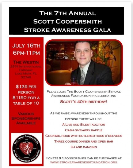 The 7th Annual Scott Coopersmith Stroke Awareness Gala